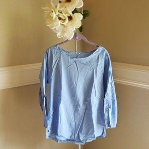Tops - Baby Blue Linen top